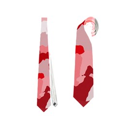 Camouflage Red Neckties (one Side)