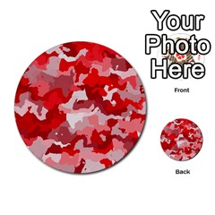 Camouflage Red Multi Purpose Cards (round)