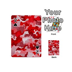 Camouflage Red Playing Cards 54 (Mini)