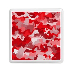 Camouflage Red Memory Card Reader (square)