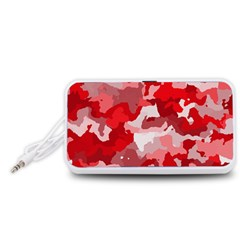 Camouflage Red Portable Speaker (White)