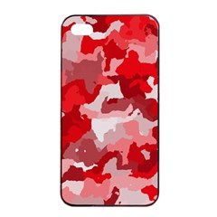 Camouflage Red Apple iPhone 4/4s Seamless Case (Black)