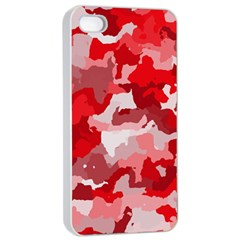 Camouflage Red Apple iPhone 4/4s Seamless Case (White)