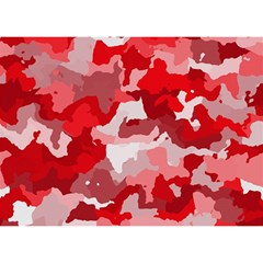 Camouflage Red Birthday Cake 3D Greeting Card (7x5)