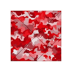 Camouflage Red Acrylic Tangram Puzzle (4  x 4 )
