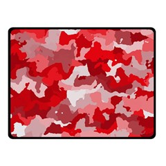 Camouflage Red Double Sided Fleece Blanket (Small)
