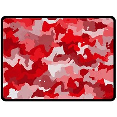 Camouflage Red Double Sided Fleece Blanket (Large)