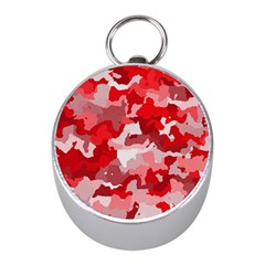 Camouflage Red Mini Silver Compasses