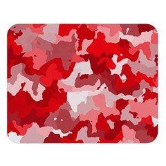 Camouflage Red Double Sided Flano Blanket (Large)