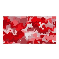Camouflage Red Satin Shawl