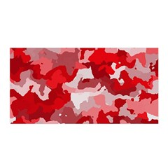 Camouflage Red Satin Wrap