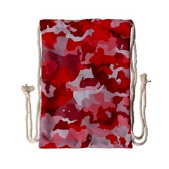 Camouflage Red Drawstring Bag (small)