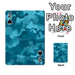 Camouflage Teal Playing Cards 54 Designs