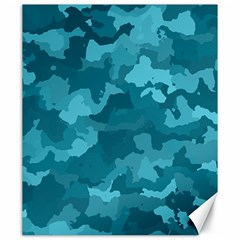 Camouflage Teal Canvas 20  X 24