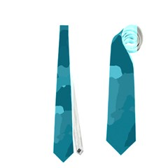Camouflage Teal Neckties (two Side)