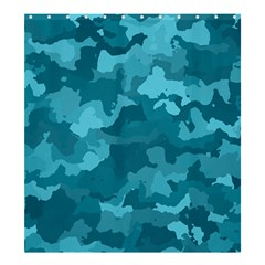 Camouflage Teal Shower Curtain 66  X 72  (large)