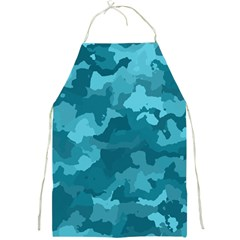 Camouflage Teal Full Print Aprons