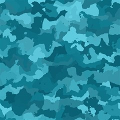 Camouflage Teal Magic Photo Cubes