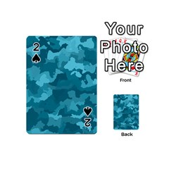 Camouflage Teal Playing Cards 54 (Mini)