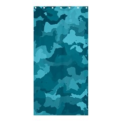 Camouflage Teal Shower Curtain 36  X 72  (stall)