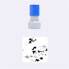 Camouflage Teal Rubber Round Stamps (Small)