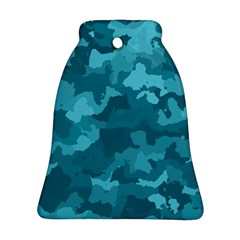 Camouflage Teal Ornament (Bell)