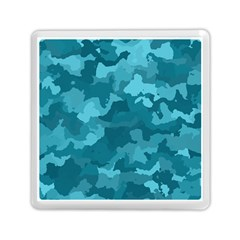 Camouflage Teal Memory Card Reader (Square)