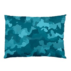 Camouflage Teal Pillow Cases (Two Sides)