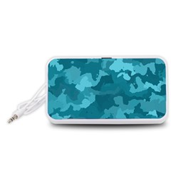 Camouflage Teal Portable Speaker (White)