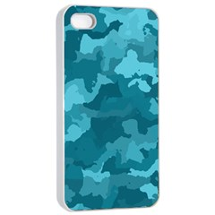 Camouflage Teal Apple Iphone 4/4s Seamless Case (white)