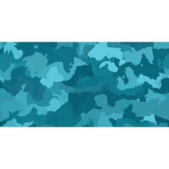 Camouflage Teal YOU ARE INVITED 3D Greeting Card (8x4)
