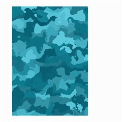 Camouflage Teal Small Garden Flag (Two Sides)