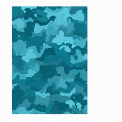 Camouflage Teal Large Garden Flag (Two Sides)