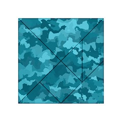 Camouflage Teal Acrylic Tangram Puzzle (4  x 4 )