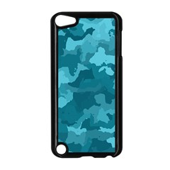 Camouflage Teal Apple Ipod Touch 5 Case (black)