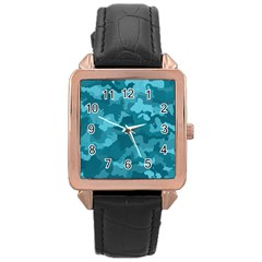 Camouflage Teal Rose Gold Watches