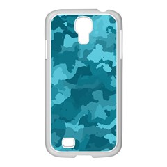 Camouflage Teal Samsung Galaxy S4 I9500/ I9505 Case (white)
