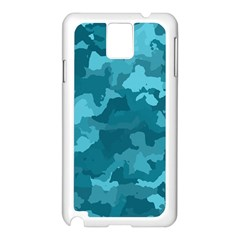 Camouflage Teal Samsung Galaxy Note 3 N9005 Case (white)