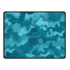 Camouflage Teal Double Sided Fleece Blanket (small)