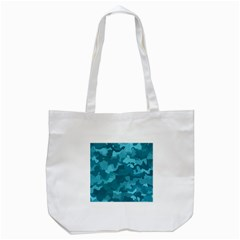 Camouflage Teal Tote Bag (white)