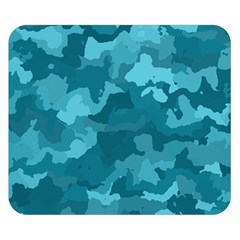 Camouflage Teal Double Sided Flano Blanket (small)