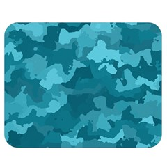 Camouflage Teal Double Sided Flano Blanket (Medium)