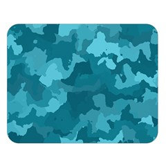 Camouflage Teal Double Sided Flano Blanket (Large)