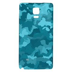 Camouflage Teal Galaxy Note 4 Back Case
