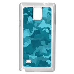 Camouflage Teal Samsung Galaxy Note 4 Case (white)
