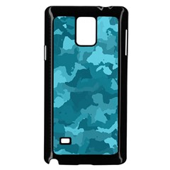 Camouflage Teal Samsung Galaxy Note 4 Case (black)