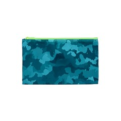 Camouflage Teal Cosmetic Bag (xs)