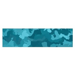 Camouflage Teal Satin Scarf (Oblong)
