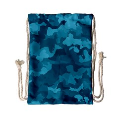 Camouflage Teal Drawstring Bag (small)