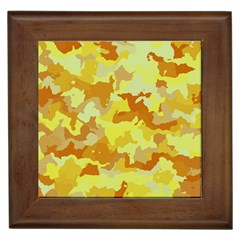Camouflage Yellow Framed Tiles